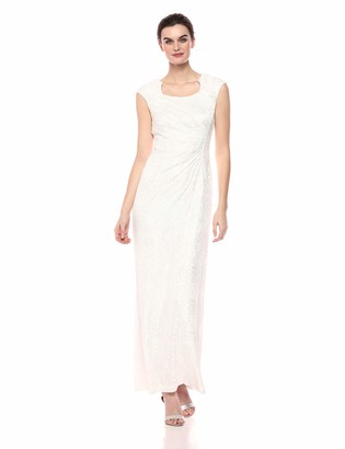 Tahari by Arthur S. Levine Women's Glitter Lace Gown