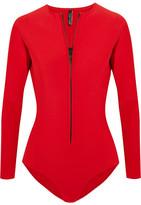 Lisa Marie Fernandez Farrah Neoprene Swimsuit - Red