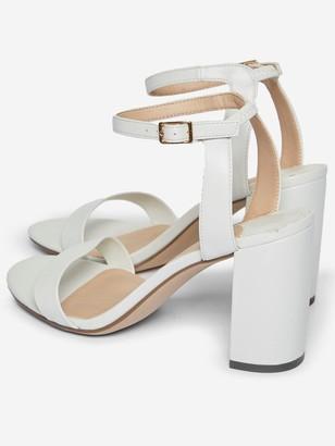 Dorothy Perkins Shimmer Heeled Sandal - White