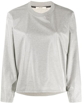 Zilver Aqua crew-neck sweatshirt