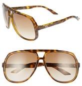 Gucci Men's Logo Temple 63Mm Aviator Sunglasses - Havana