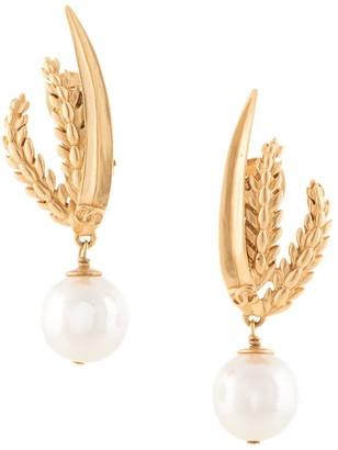 Chanel Pre Owned 1999 Rice Motif Earrings