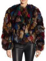 Alice + Olivia Becky Reversible Fox Fur Jacket