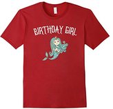 Men's Mermaid Birthday Girl TShirt Large