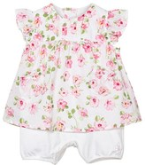 Emile et Rose Floral Print Dress Onesie