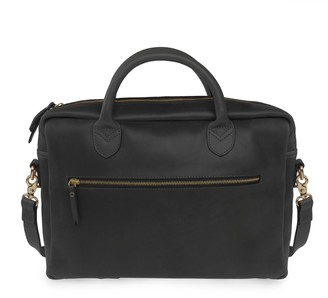 Vida Vida Luxe Black Leather Laptop Bag