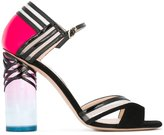 Nicholas Kirkwood 105mm 'Zaha' closed-back sandals - women - Leather/Patent Leather/Suede/Nylon - 35