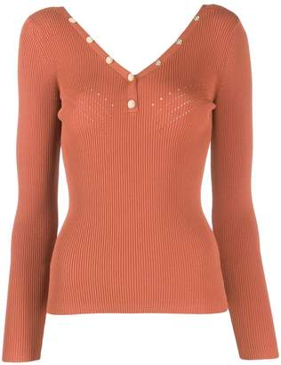Sandro Paris fitted ribbed jumper