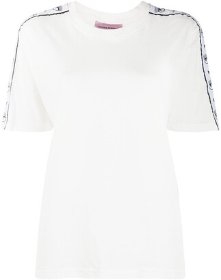 Chiara Ferragni Logo Sleeve Cotton T-Shirt