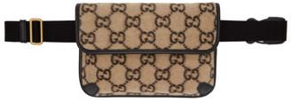 Gucci Beige GG Wool Belt Bag