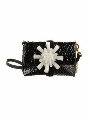 Marc Jacobs Patent Leather Embellished Crossbody Bag Black
