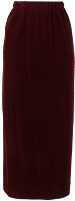 Comme Des Garçons Pre-Owned Velvet-Effect Straight Skirt