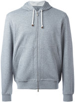 Brunello Cucinelli kangaroo pockets zipped hoodie - men - Cotton/Polyamide - M