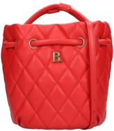 Balenciaga Touch Bucket Tote In Red Leather