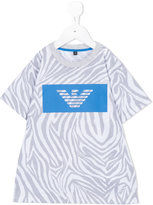 Armani Junior printed T-shirt - kids - Cotton/Polyester - 4 yrs