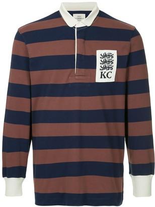 Kent & Curwen striped longsleeved polo shirt