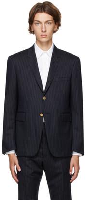 Thom Browne Navy Stripe Classic Blazer