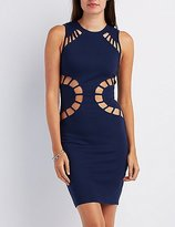 Charlotte Russe Caged Cut-Out Bodycon Dress