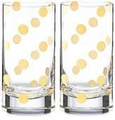 Kate Spade Pearl Place Set of 2 Highball Glasses