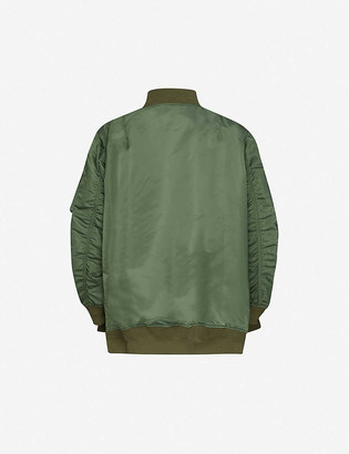 Sacai Drawstring shell bomber jacket
