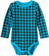 Baby Boy Jumping Beans® Buffalo Check Thermal Bodysuit