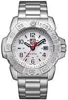 Luminox Men's 'SEA' Swiss Quartz Stainless Steel Casual Watch, Color:Silver-Toned (Model: 3258)