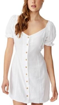 Cotton On Woven Aurora Short Sleeve Mini Dress