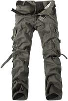 WSLCN Men's Relaxed Casual Cargo Trousers Outdoors Work Wear Utility Multi pockets Waist 76cm