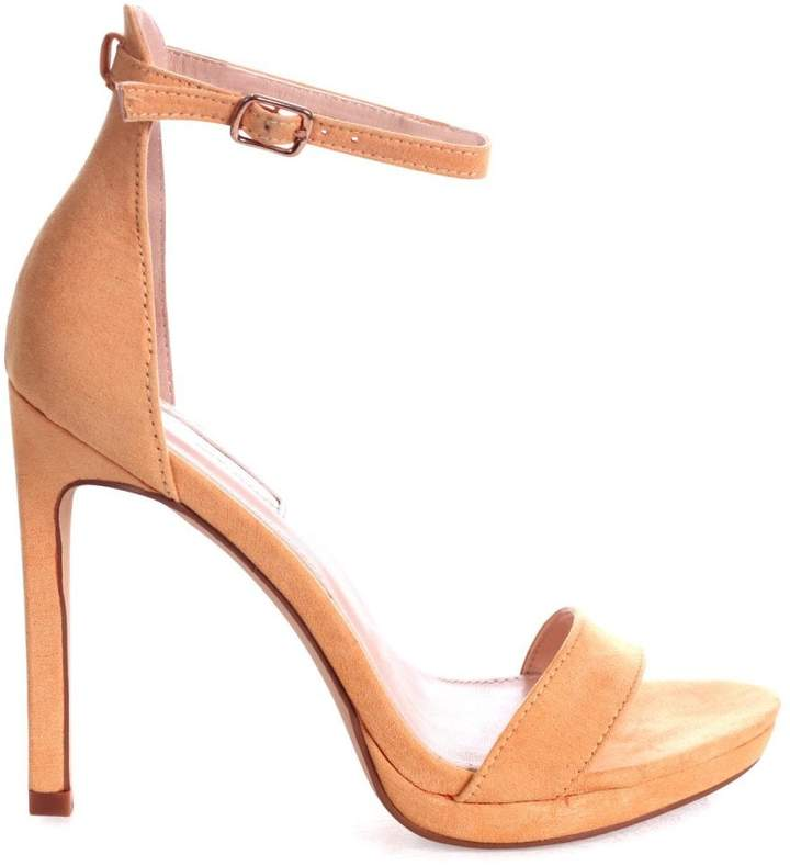 97a375c069f Linzi GABRIELLA - Yellow Suede Stiletto Heel With Slight Platform
