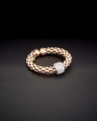 Italian Gold Meshmerise 14K Rose Gold 0.30 Ct. Tw. Diamond Mesh Ring