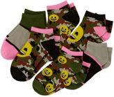 Asstd National Brand Emoji 6-pk. Camo Socks