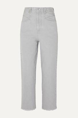 Isabel Marant Daliska Cropped High-rise Straight-leg Jeans - Light gray