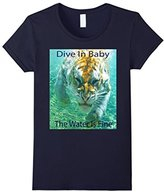 Women's Dive In Baby - Swimming Tiger Large