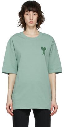 Ami Alexandre Mattiussi Green Big Ami De Coeur T-Shirt