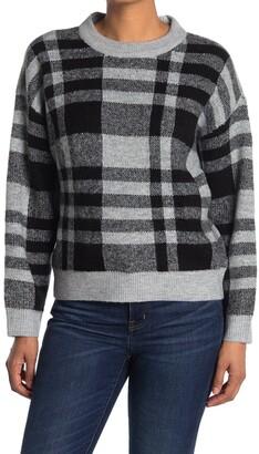 Velvet Heart Roman Plaid Dolman Sweater