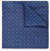 Lardini Floral dot print linen-silk pocket square