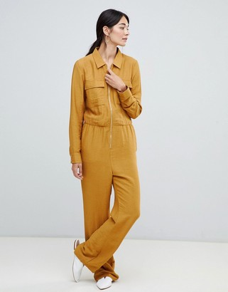 Vila Utility Jumpsuit-Yellow
