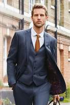 Mens Next Blue Skinny Fit Textured Suit: Jacket - Blue