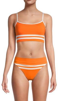 L-Space Striped Bikini Top