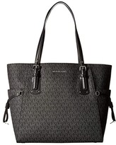 MICHAEL Michael Kors Voyager East/West Signature Tote (Black) Tote Handbags