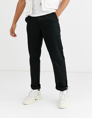 Fred Perry straight fit chino in black