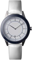 Uniform Wares 351-BR-01 351 Series Men's Stainless Leather Strap White Dial Watch