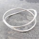 Otis Jaxon Silver Jewellery Curve Infinity Solid Silver Bangle