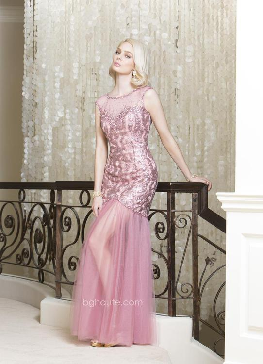 BG Haute - G3110 Dress in Dusty Rose