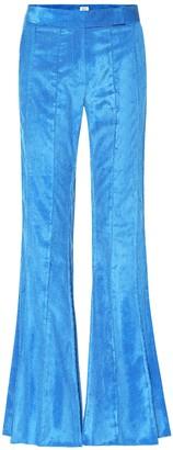 Rosie Assoulin Pleated Flare corduroy pants