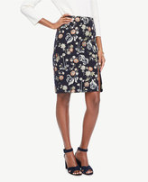 Ann Taylor Garden Jacquard Pencil Skirt