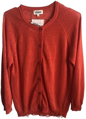 Shine Orange Linen Knitwear for Women