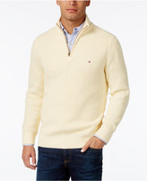 Tommy Hilfiger Men's Big & Tall Harrington Quarter-Zip Sweater