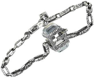 Gucci G Cube Silver Motif Size 18 Bracelet