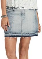 Denim & Supply Ralph Lauren Frayed Denim Mini Skirt